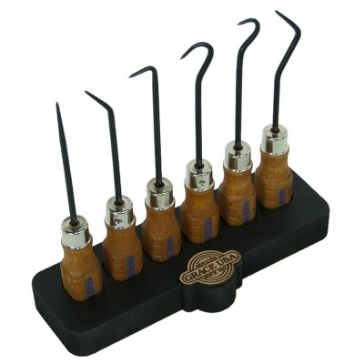GRACE USA 6 Piece Hook and Pick Set with Bench Block Hero